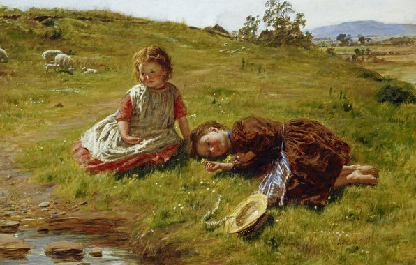 Picture Spring, Spring, Edinburgh, Edinburgh, 1864, oil on canvas, Scottish painter, William McTaggart, William McTaggart, Scottish …