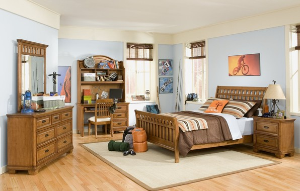Picture furniture, bed, interior, pillow, children's room