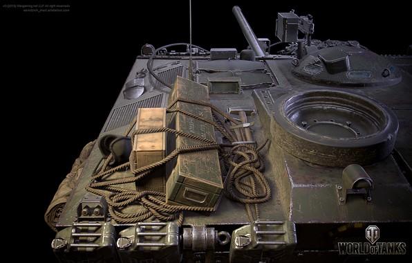 Picture rendering, the game, game, tanks, bitch, rendering, wot, self-propelled gun, tanks, gun, World Of Tanks, …