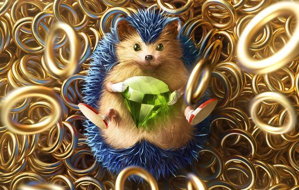Picture The game, Sonic, Art, Art, Ring, Rings, Digital Art, Diamond, Sonic, Fan Art, Characters, Sonic ...