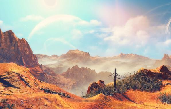Picture Desert, Witcher 3, Witcher 3 Wild Hunt, cd projekt Red, Ddiddiwedht Desert