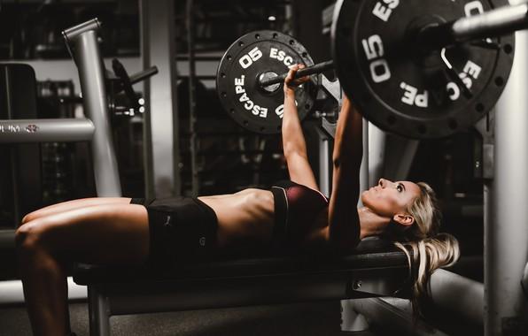 Wallpaper girl, rod, training