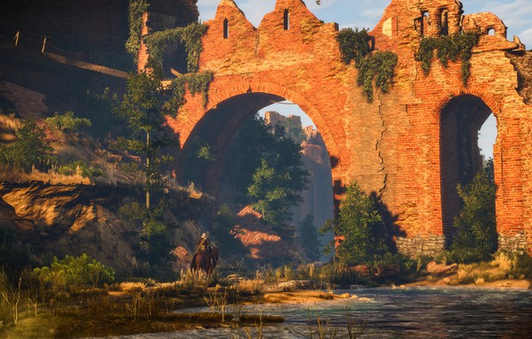 Picture fortress, Geralt, The Witcher 3: Wild Hunt, The Witcher 3: Wild Hunt, white garden