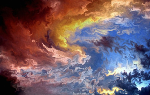 Picture abstraction, abstract, hot, cold, gamma, cold, hot, gamma, смесь цветов, mix of colors, красочное отражение, …