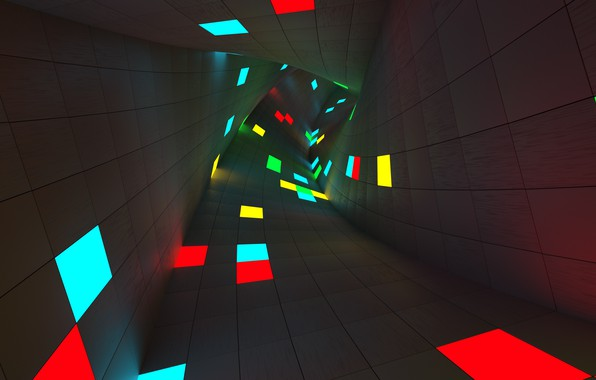 Picture abstraction, turn, the tunnel, rendering