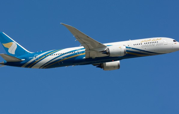 Picture Boeing, flight, liner, Oman Air, 787-8