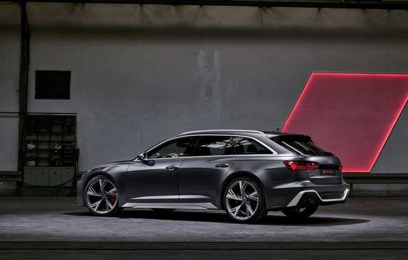 Picture Audi, side, universal, RS 6, 2020, 2019, dark gray, V8 Twin-Turbo, RS6 Avant