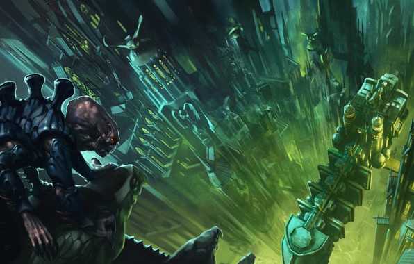 Picture the city, ship, Warhammer 40 000, xenos, genogram