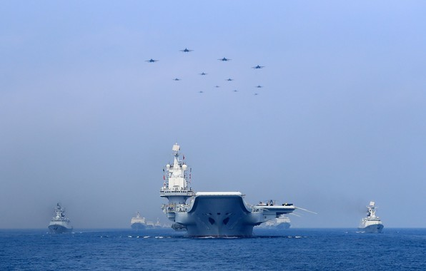 Picture Wave, Fighters, Navy, The carrier, THE CHINESE NAVY, Liaoning (16), Armada
