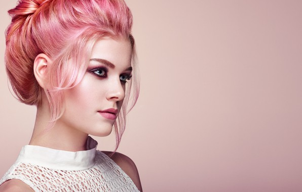 Picture girl, style, makeup, hairstyle, color, Oleg Gekman
