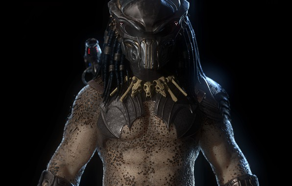 Picture weapons, background, predator, mask, bones, predator