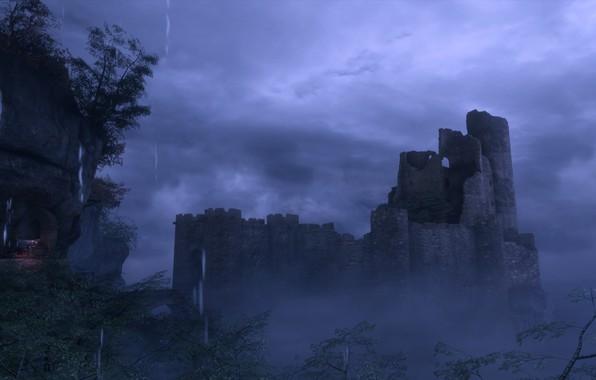 Picture night, castle, rain, a plague tale: innocence