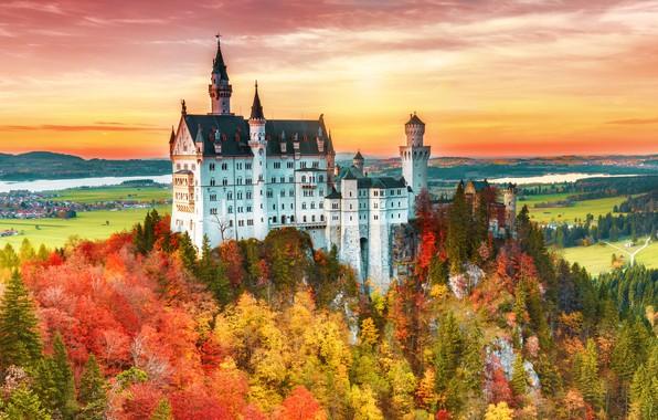 Picture castle, Germany, Neuschwanstein, archiecture