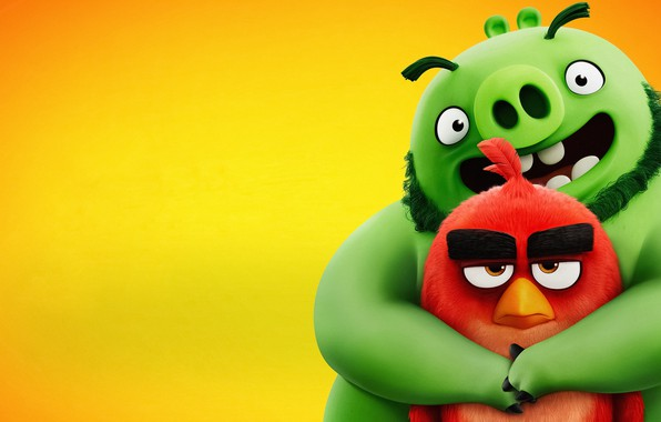 Picture graphics, cartoon, Movie, The Angry Birds, 2019