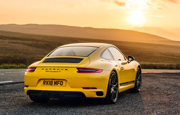 Photo wallpaper 911, Porsche, rear view, Coupe, 2018, Carrera T