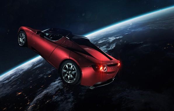 Picture Auto, Planet, Space, Machine, Light, Earth, Light, Art, Space, Art, Earth, Satellite, Auto, Planet, Tesla, …