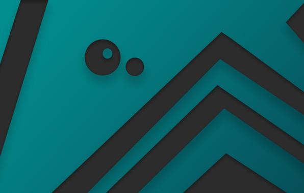 Picture line, circles, minimalism, texture, art, hi-Tech, high-tech, blue gradient, turquoise gradient, gradient blue