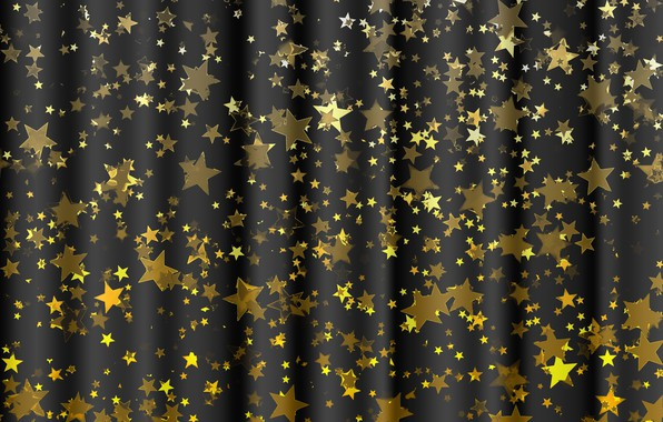 Picture stars, background, gold, black, texture