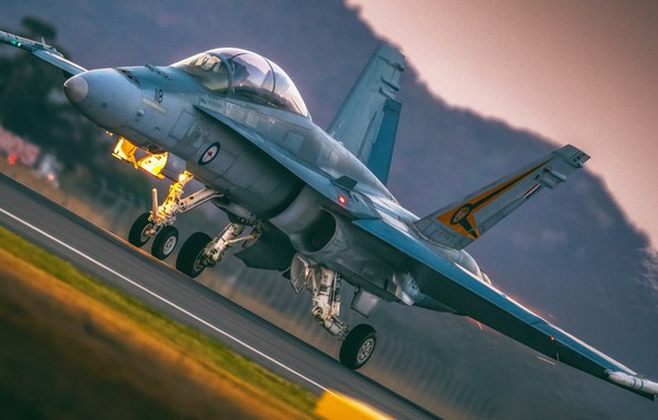 Picture Fighter, Lantern, F/A-18, The rise, WFP, Royal Australian air force, Chassis, F/A-18 Hornet, ILS