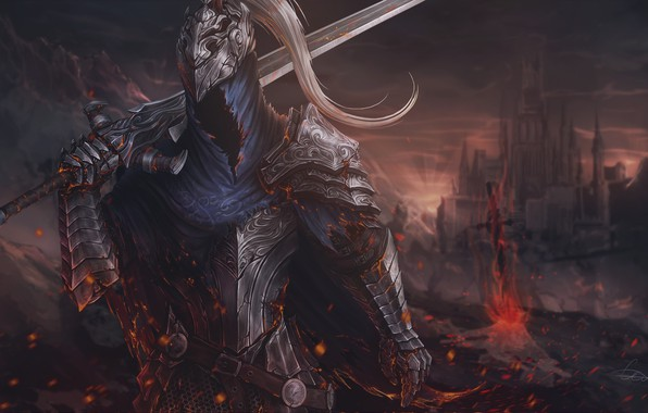 Picture Armor, Sword, Fantasy, Art, Art, Knight, Fiction, Dark Souls, Knight, Sword, Game Art, by Sergey …