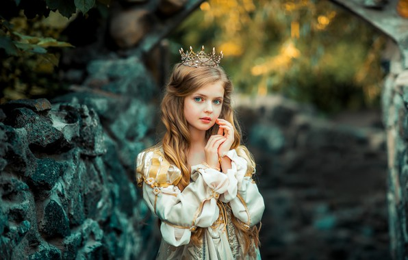 Picture dress, girl, Princess