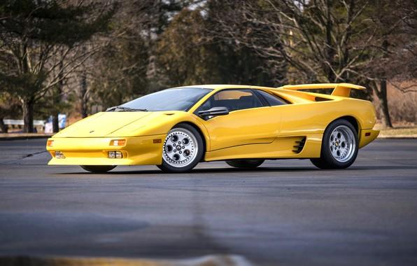 Picture Yellow, Supercar, Lamborghini Diablo