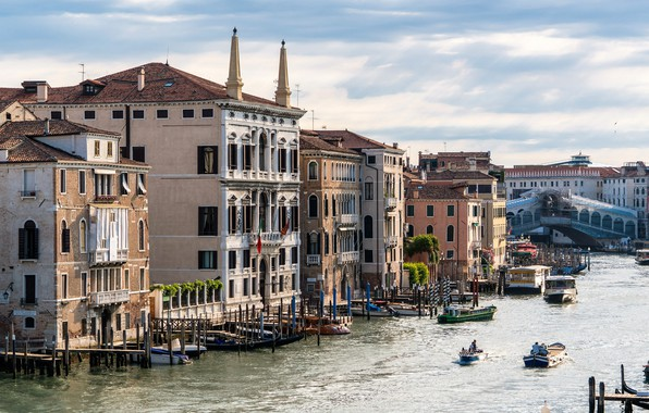 Picture city, wallpaper, italy, venice, canal, rialto