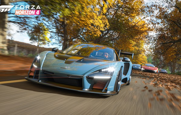 Picture McLaren, Microsoft, supercars, Senna, E3 2018, Forza Horizon 4