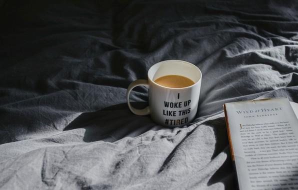 Picture coffee, mug, book