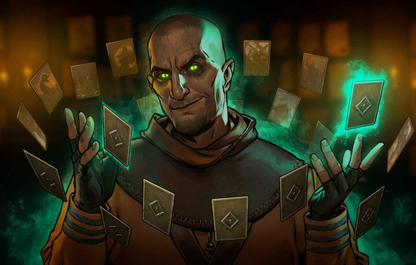 Picture card, magic, The Witcher 3: Wild Hunt, The Witcher 3: Wild Hunt, enchantment, The glass …