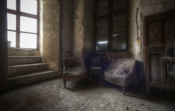 Picture room, chair, window