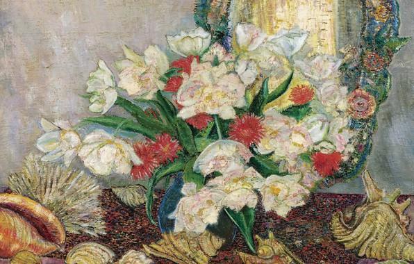 Picture 1921, Leon De Smet, Leon de Smet, Flowers and Shells