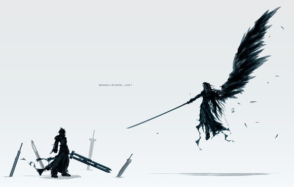 Picture sword, Final Fantasy, wings