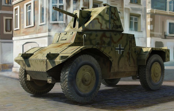 Picture France, Germany, Trophy, Panhard 178, AMD 35, reconnaissance armored car, model 1935, Panzerspahwagen P 204 …