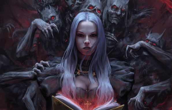Picture the demon, fantasy, art, fragment, Stefan Koidl, The Demon Book