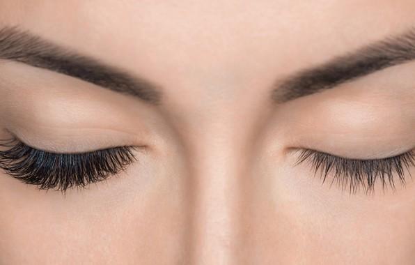 Picture fashion, beauty, eyelashes, skin