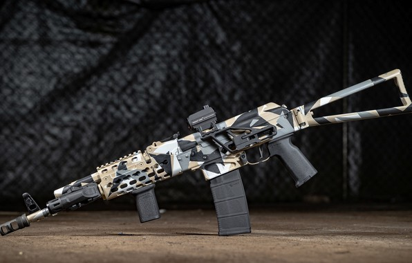 Picture weapons, tuning, machine, weapon, custom, custom, Kalashnikov, Russian, assault rifle, assault Rifle, AK, AK