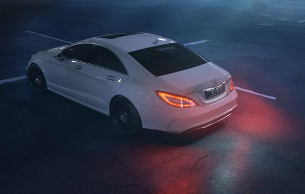 Picture Auto, White, Machine, Mercedes, Rendering, Transport & Vehicles, Mercedes-Benz CLS 500, Daniil Vinogradov, by Daniil …