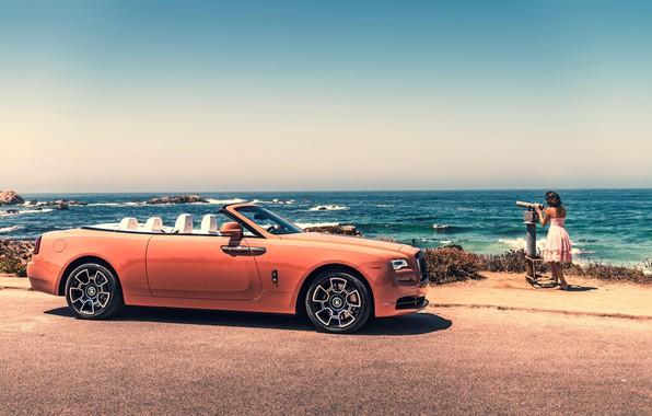 Picture Girl, Orange, Luxury, Rolls-Royce Wraith