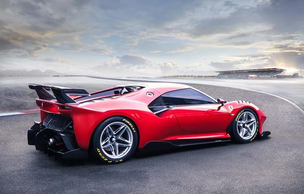 Picture machine, the sky, asphalt, Ferrari, sports car, P80/C