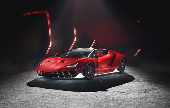 Picture Red, Auto, Lamborghini, Machine, Supercar, Sports car, Lamborghini Centenary, Centennial, Transport & Vehicles, by Damian …