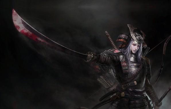 Picture warrior, fantasy, art, tian zi