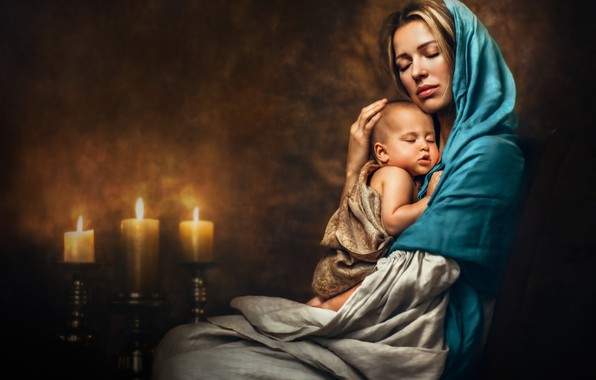 Picture mood, child, mother