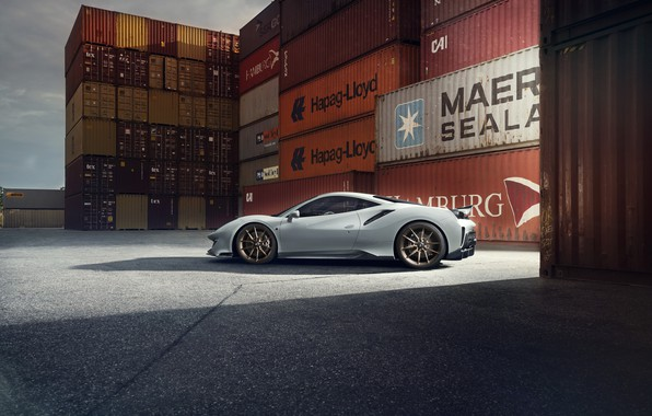 Picture machine, Ferrari, drives, containers, Novitec, 488, Pista