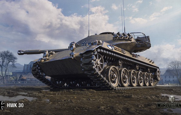Picture WoT, World of Tanks, German tank, Wargaming, HWK 30