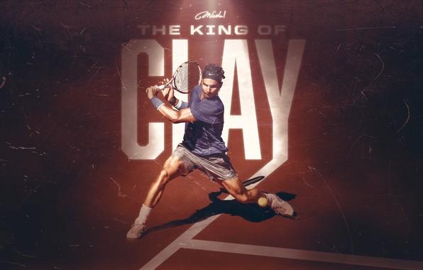 Picture Sport, Tennis, King, Spanish, Rafa, Rafael Nadal, Clay