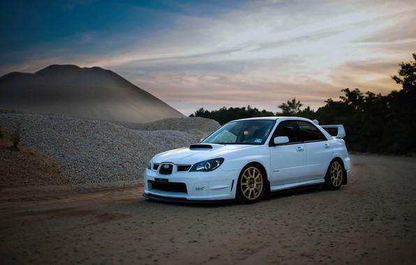 Picture Subaru, Impreza, WRX, STI, White, Evening, Career