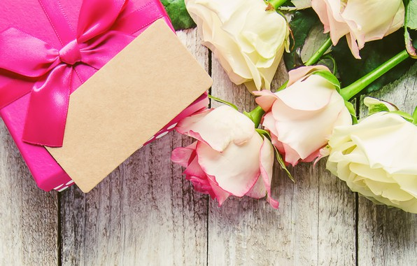 Picture love, gift, heart, roses, bouquet, love, pink, heart, pink, flowers, romantic, valentine's day, roses, gift …