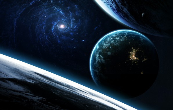 Picture Stars, Planet, Space, Light, Planet, Light, Planets, Art, The Milky Way, Stars, Space, Art, Satellite, ...