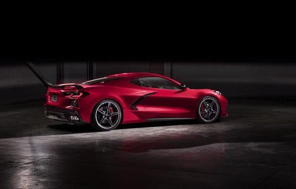 Picture Corvette, Chevrolet, Lights, Drives, Stingray, 2020, Chevrolet Corvette ( C8 ) Stingray